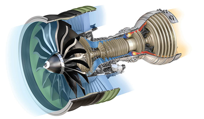 Jet Engine Fan Blades : Ge reveals the world s hugest jet engine that is wider