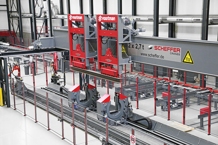 Automated structural steel processing machines are
