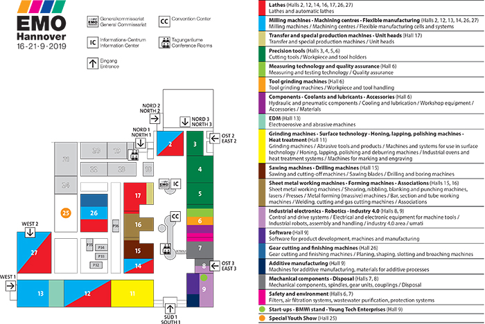 Area plan of EMO Hannover 2019 |